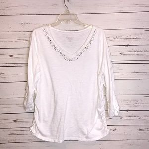 Lane Bryant cool and casual cotton slub top